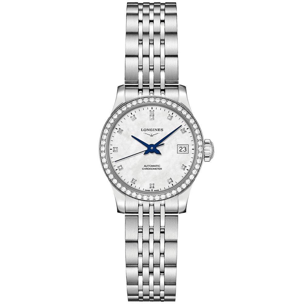 e7ce78571 Record 26mm Diamond Dial & Bezel Ladies Automatic Bracelet Watch