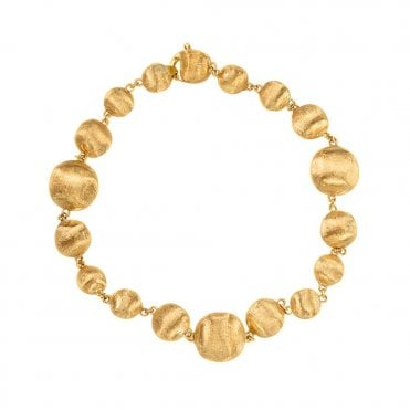 Africa 18ct Yellow Gold Graduated Bead Bracelet