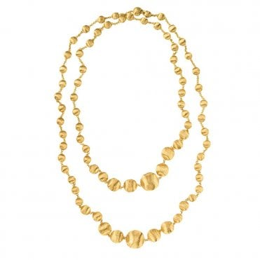 Africa 18ct Yellow Gold Single Strand Bead Necklace