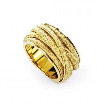Il Cairo 18ct Yellow Gold Seven Strand Woven Dress Ring