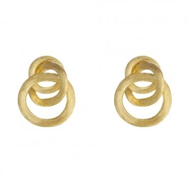 Jaipur Link 18ct Yellow Gold Small Knot Stud Earrings