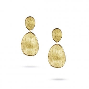 Marco Bicego Lunaria 18ct Yellow Gold Double Drop Earrings