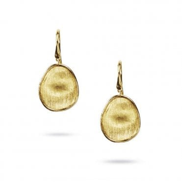Lunaria 18ct Yellow Gold Single Drop Earrings