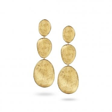 Lunaria 18ct Yellow Gold Triple Drop Earrings