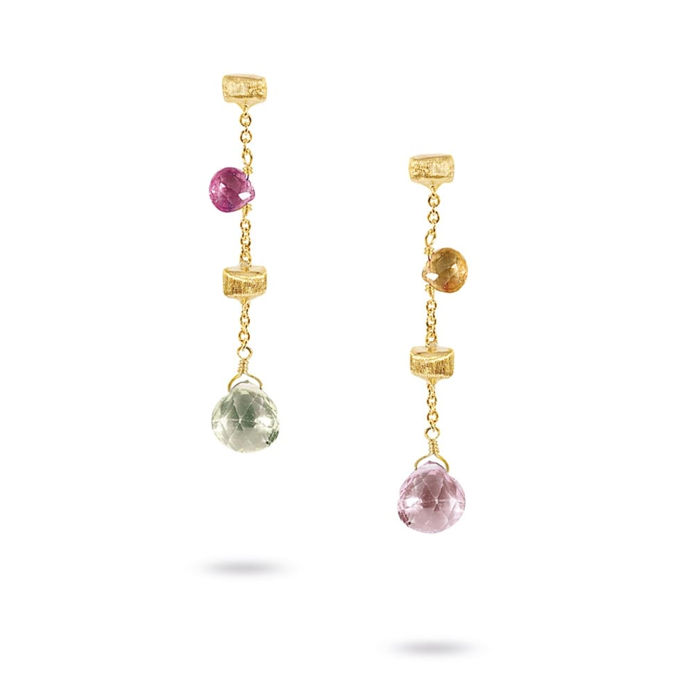 Marco Bicego Paradise 18ct Yellow Gold Mulicolour Stones ...