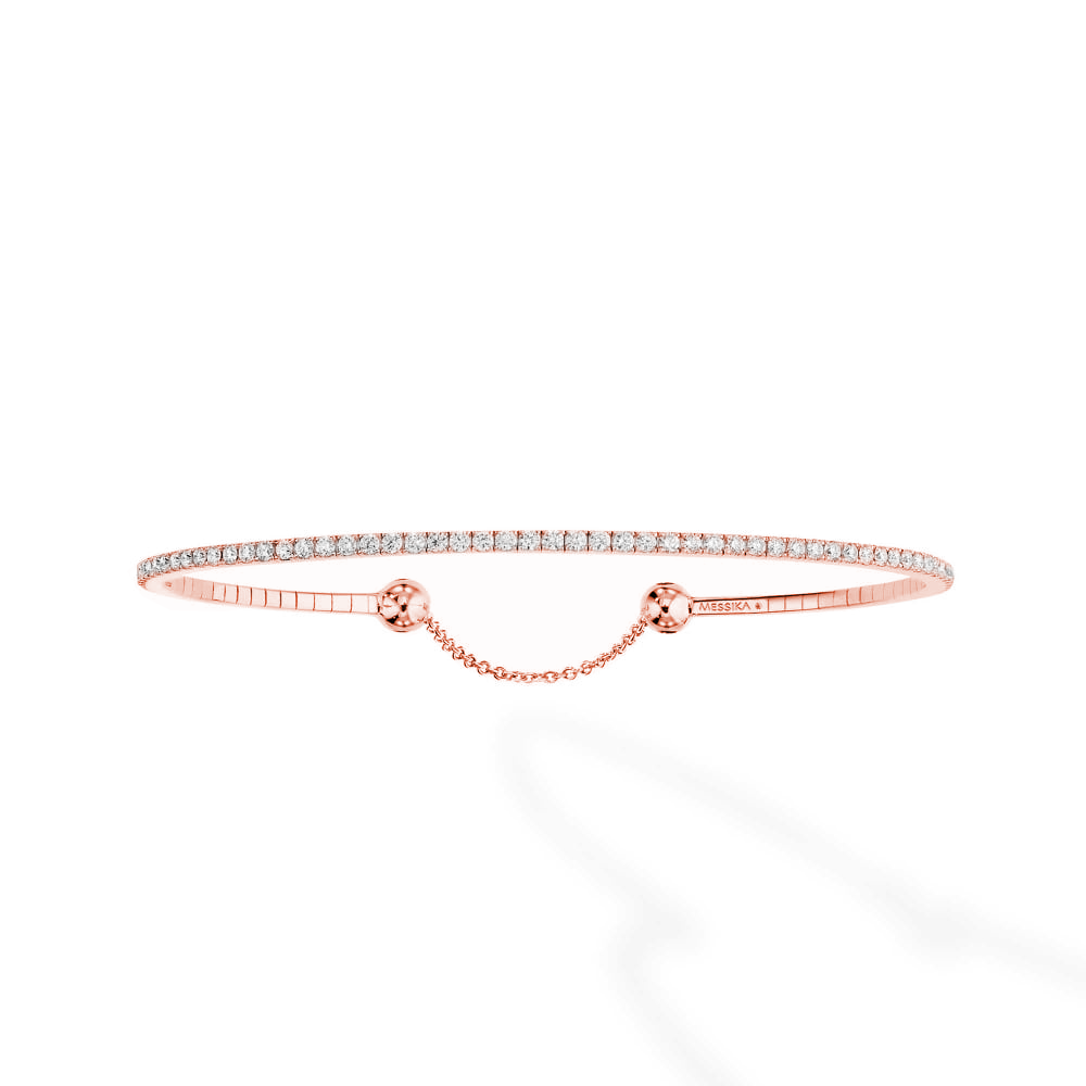 bracelet diamond a pink and products com rough gold diamesque
