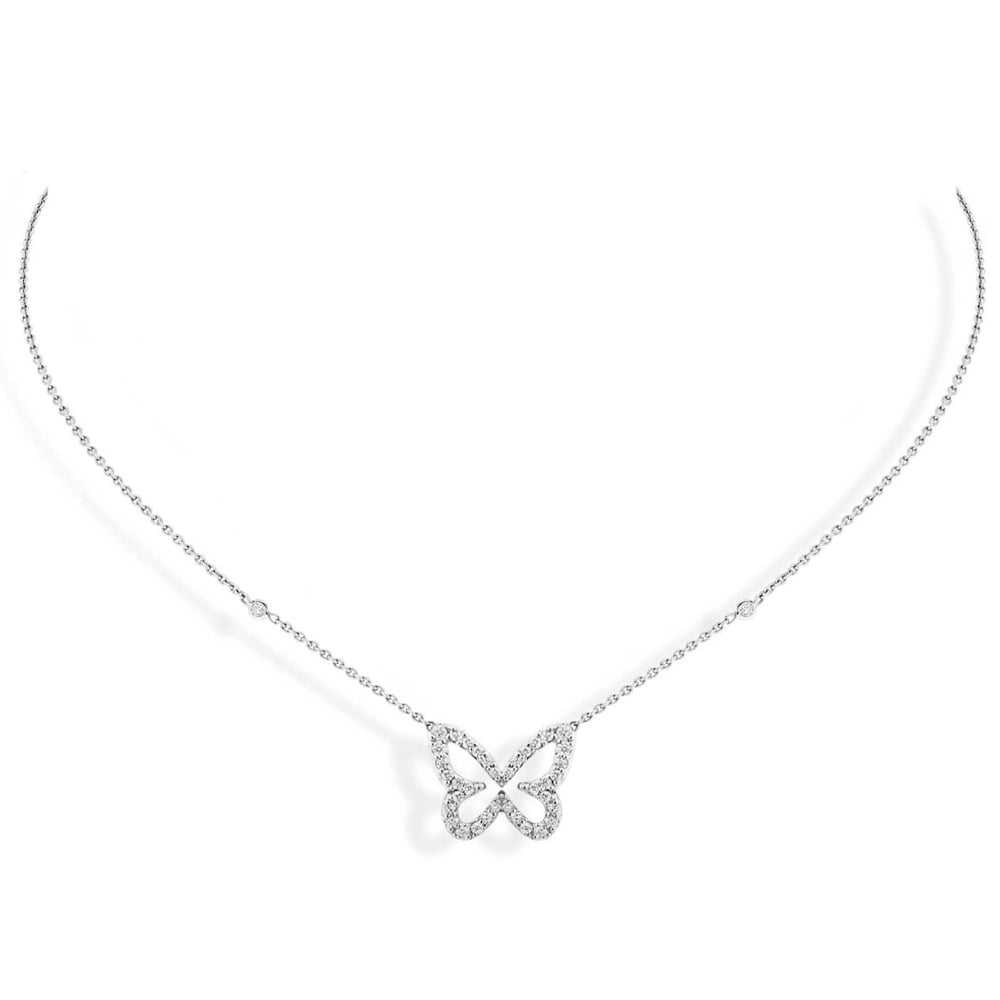 Messika 18ct White Gold Butterfly Ajour 233 S Pave Set