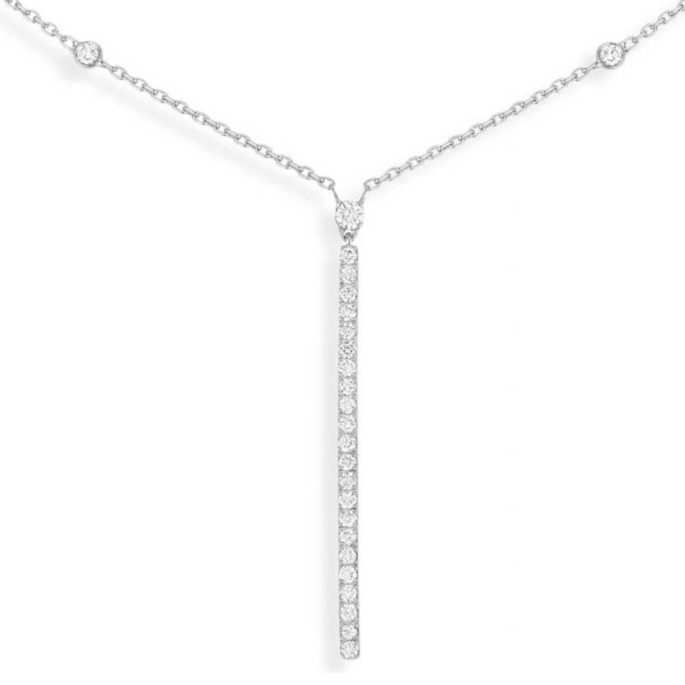 horizontal silver necklace bar