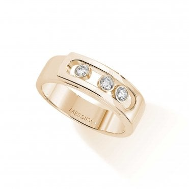 Messika Paris 18ct Yellow Gold 'Move Noa' Three Moving Diamonds Ring