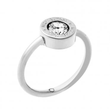 Michael Kors Brilliance Silver Tone Crystal Set Ring