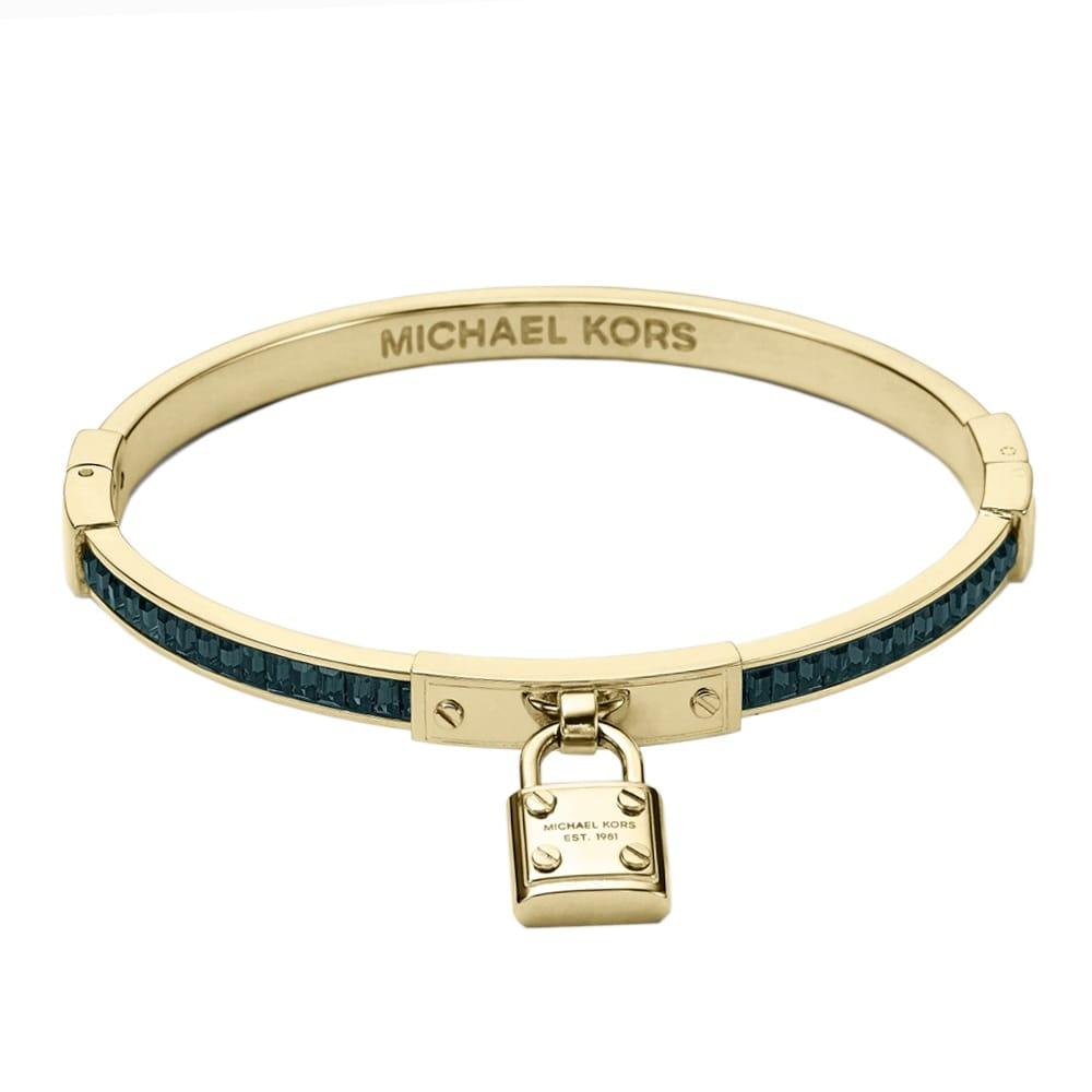 michael kors brilliance statement crystal set padlock bangle. Black Bedroom Furniture Sets. Home Design Ideas