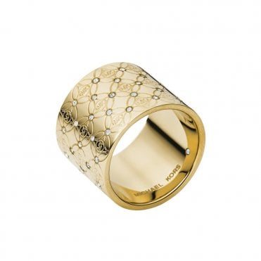 Heritage Monogram Gold Tone Ring