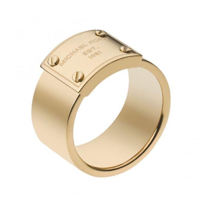 Michael Kors Heritage Plaque Ring