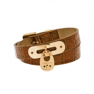 Leather Wrap Padlock Bracelet