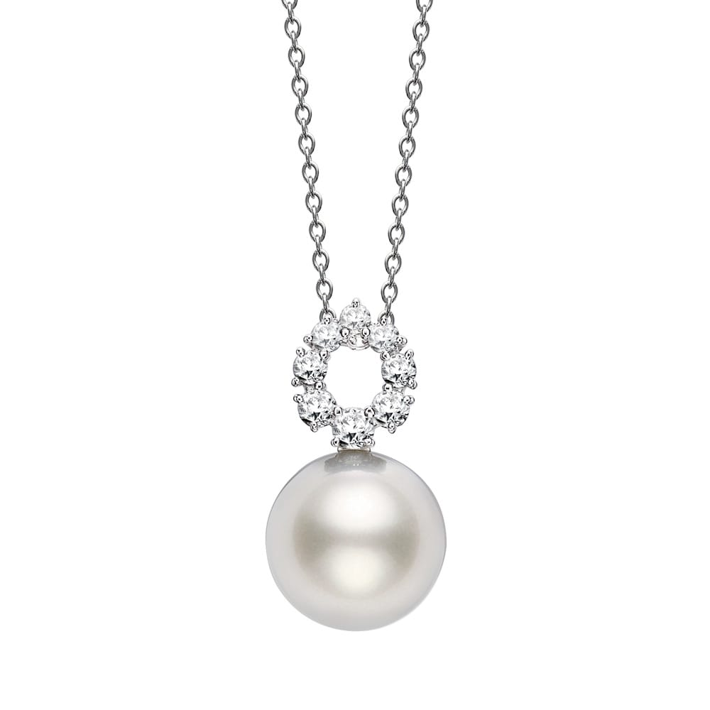 Mikimoto 120th anniversary white south sea pearl diamond frost pendant 120th anniversary white south sea pearl amp diamond frost pendant aloadofball Gallery