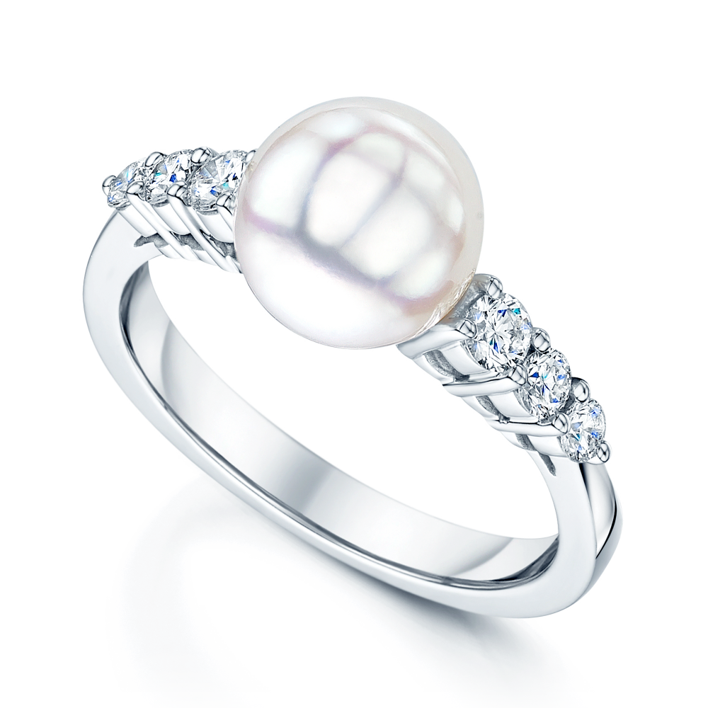 image twist gold engagement white diamond pearl jewellery rings ring tahitian grey