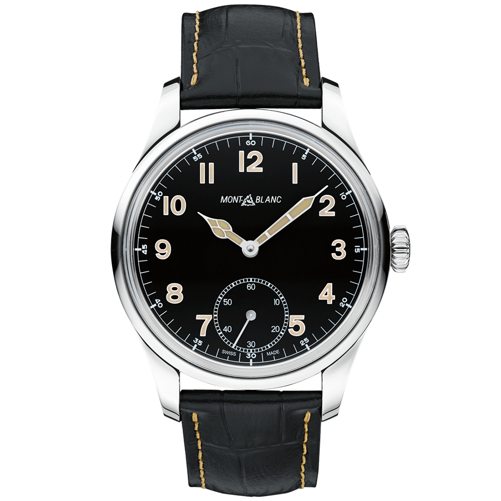 6944ce13397 Montblanc Montblanc 1858 Black Dial & Leather Strap Limited Edition Watch