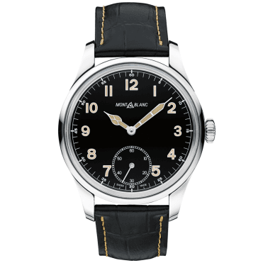 1858 Black Dial & Leather Strap Limited Edition Watch