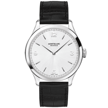 Heritage Ultra Slim Steel Silver Dial Men's Leather Strap Watch