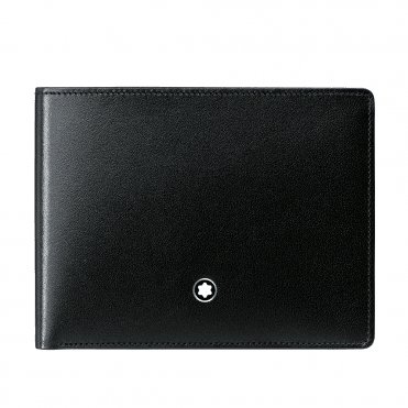 Meisterstuck Black Leather Wallet 6CC