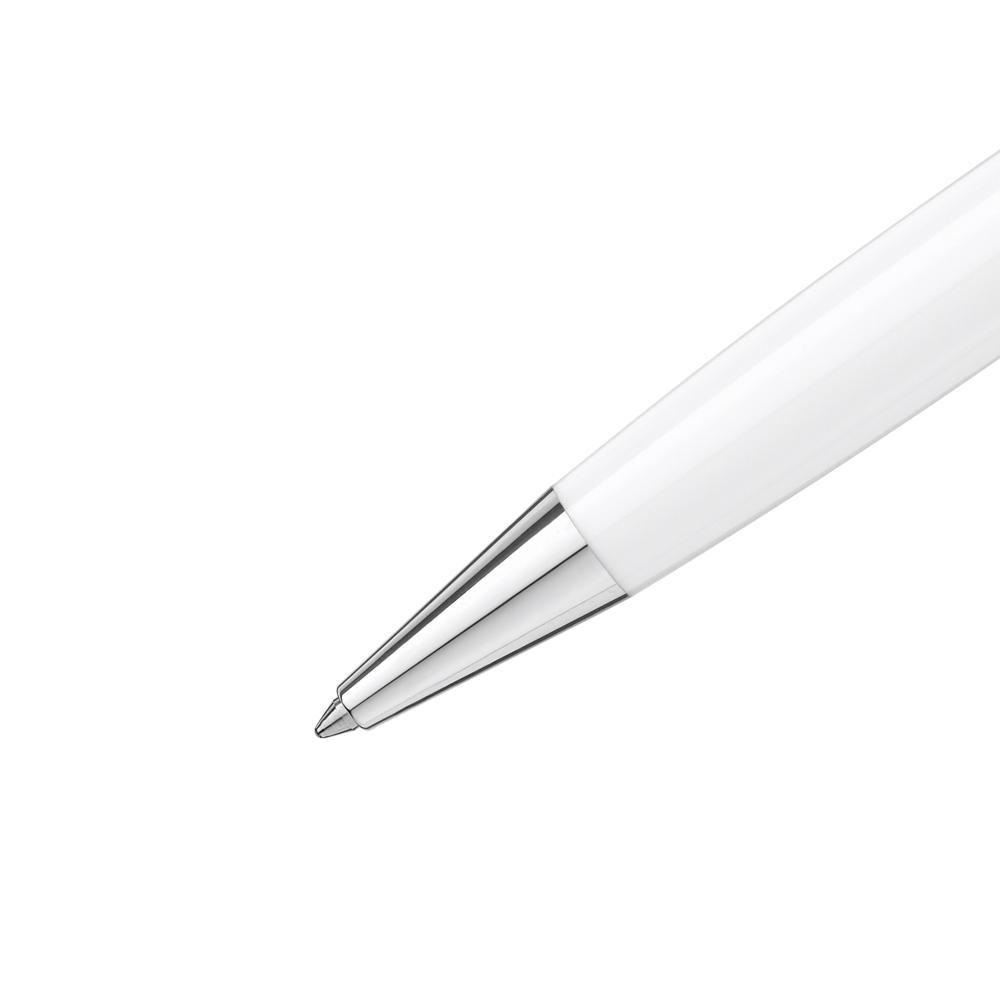 73d8602229077 Montblanc Meisterstuck White Solitaire Classique Ballpoint Pen 111939