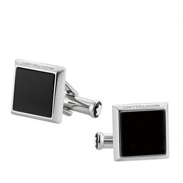 Sartorial Collection Onyx & Steel Square Cufflinks