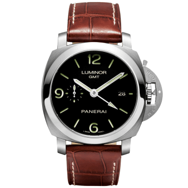 Luminor 1950 3 Days GMT Automatic Men's Brown Leather Strap Watch