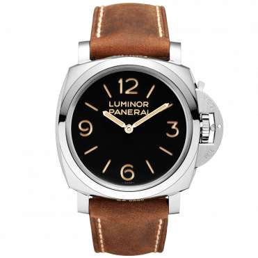 Luminor 1950 3 Days Men's Brown Leather Strap Watch