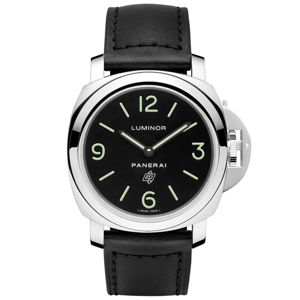 officine panerai watches at berry s jewellers luminor base logo acciaio 44mm black dial men s watch