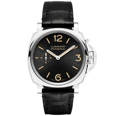 Luminor Due 3 Days Acciaio Black Dial Manual-Wind Watch