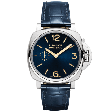 Luminor Due 3 Days Titanio Blue Dial & Leather Strap Watch