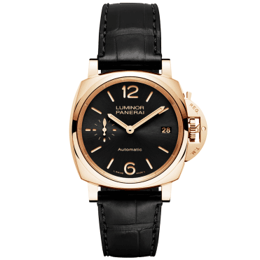 Luminor Due 38mm 18ct Red Gold & Black Dial Automatic Watch