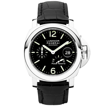 Luminor Power Reserve Men's Black Leather Strap Watch
