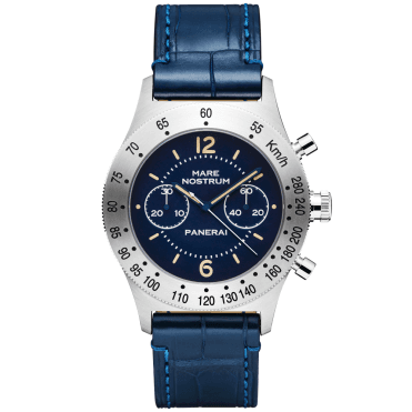 Mare Nostrum 42mm Blue Dial & Leather Strap Watch