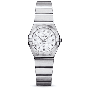 Constellation 24mm Mother Of Pearl Diamond Dial Ladies Watch