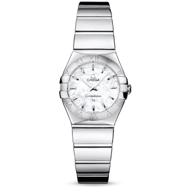 Constellation 24mm Polished Finish Mother Of Pearl Dial Ladies Watch