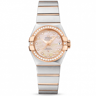 Constellation 27mm 18ct Red Gold & Mother of Pearl Dial Watch