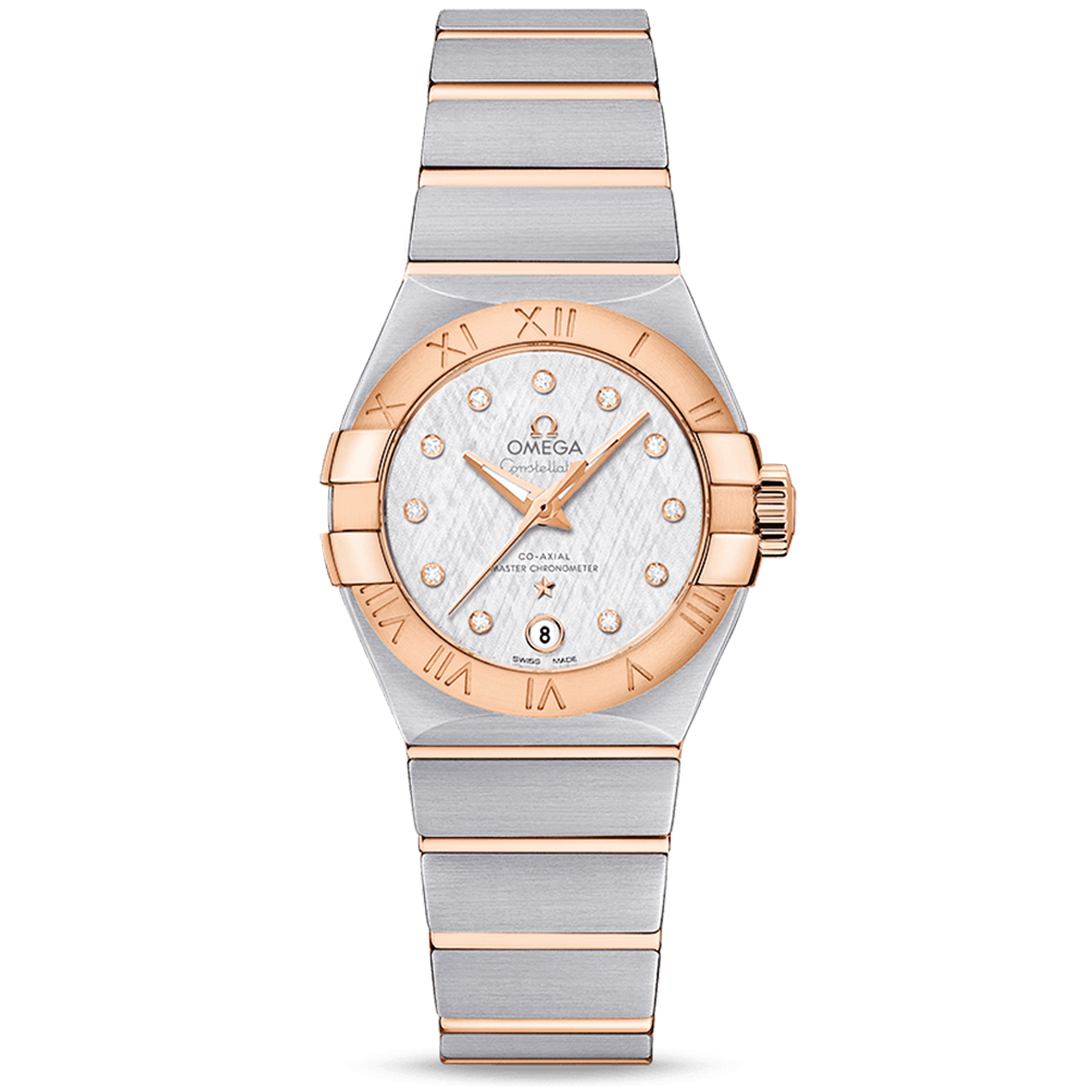 a3821aecf7863 Omega Omega Constellation 27mm Steel   18ct Red Gold Diamond Dial Ladies  Watch