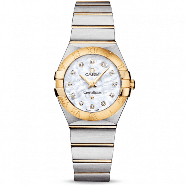Constellation 27mm Two-Tone Mother of Pearl Diamond Dial Ladies Watch