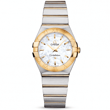 Constellation 27mm White Mother of Pearl Dial Two-Tone Ladies Watch
