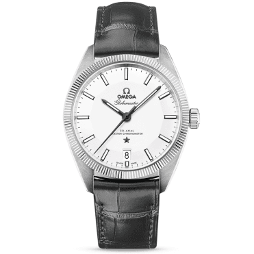 Constellation Globemaster 39mm Silver Dial Leather Strap Watch