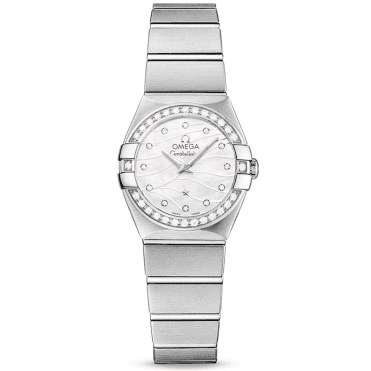 Constellation Steel Diamond Bezel MOP Diamond Dial Ladies Watch