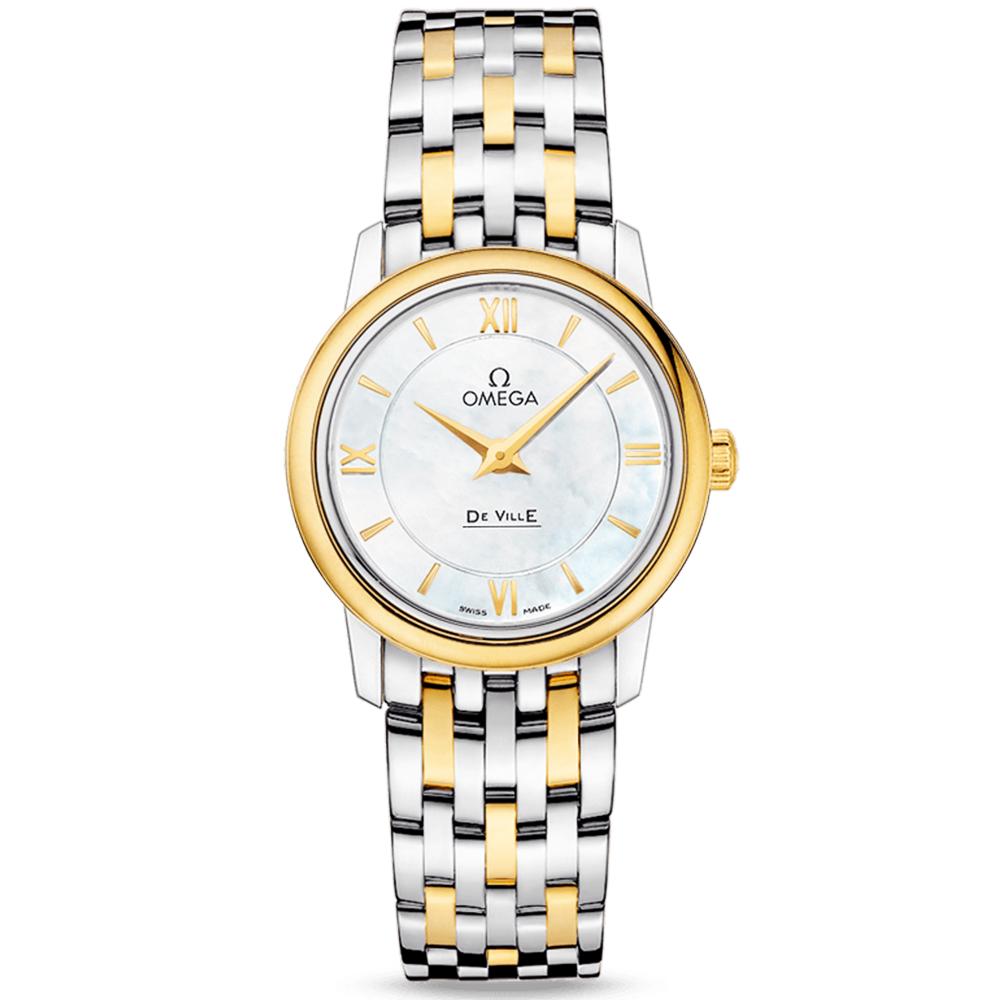 b9ec38556002 Omega Omega De Ville Prestige 27.4mm Steel   18ct Yellow Gold Ladies Watch