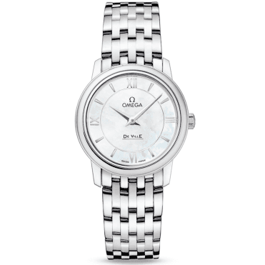 De Ville Prestige 27.4mm White Mother of Pearl Dial Ladies Watch