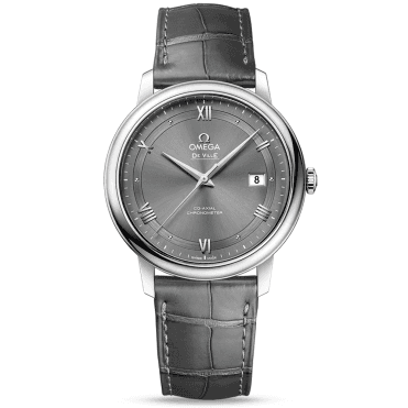 De Ville Prestige 39.5mm Anthracite Dial & Leather Strap Watch