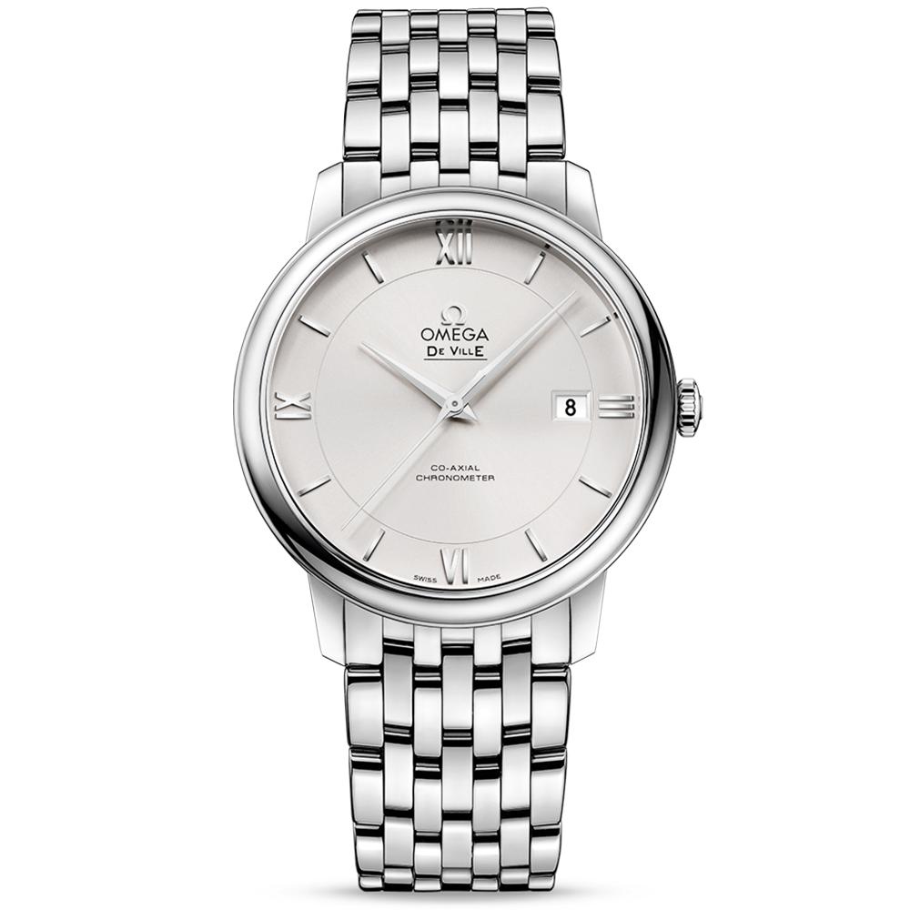81838fd8fd8 Omega Omega De Ville Prestige 39.5mm Opaline Silver Dial Men s Bracelet  Watch
