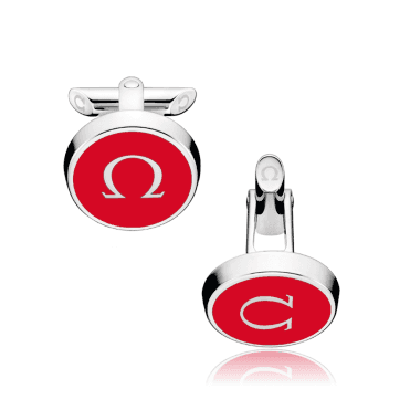 mania Stainless Steel & Red Lacquer Cufflinks