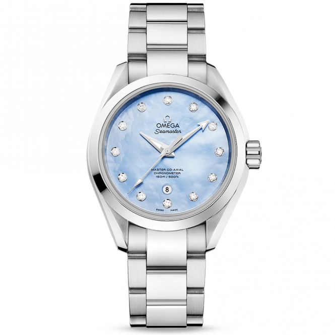 Omega Seamaster Aqua Terra 150M Blue Mother of Pearl Dial Watch