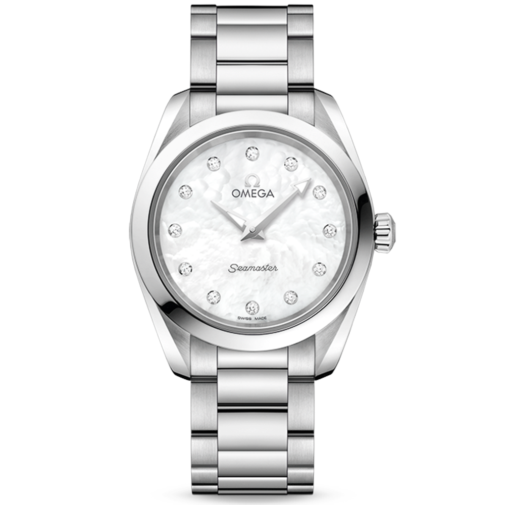 Omega Omega Seamaster Aqua Terra 28mm White Mother of Pearl Dial Ladies  Watch babfbe5fec