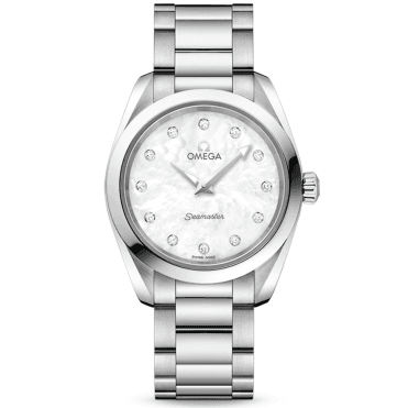 Seamaster Aqua Terra 28mm White Mother of Pearl Dial Ladies Watch